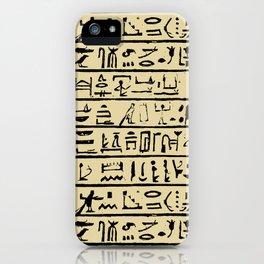 Egyptian Hieroglyphics // Tan iPhone Case