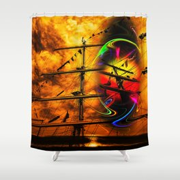 Under sail  Shower Curtain