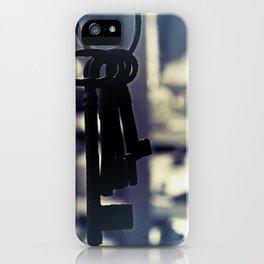 Hanging Keys-Dark iPhone Case