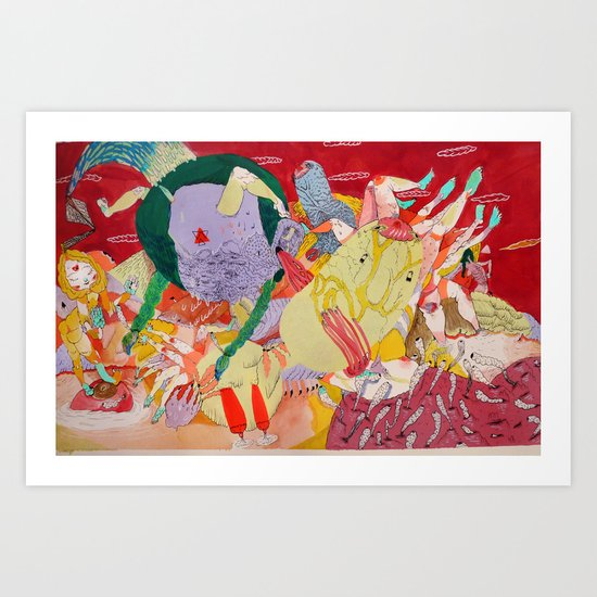 white mage Art Print