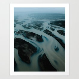 Mystic Riverbeds in Iceland – Landscape Photography Art Print