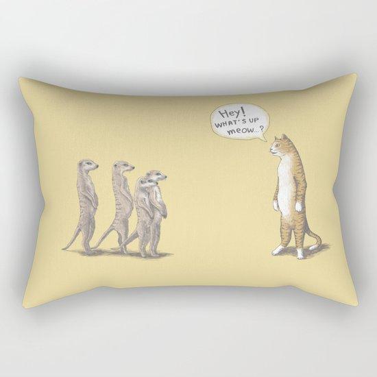 Cat & Meerkats Rectangular Pillow