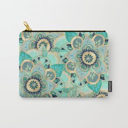 Gilded Emerald Enamel Carry-All Pouch