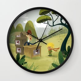 A pill that quenches thirst Wall Clock