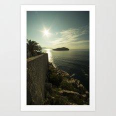 Dubrovnik Island  Art Print