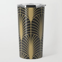 Arches in Charcoal and Gold Travel Mug