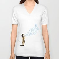 bubbles V-neck T-shirts featuring Bubbles by sergio37