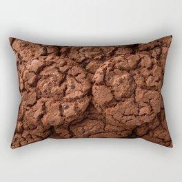 Group of dark chocolate cookies Rectangular Pillow