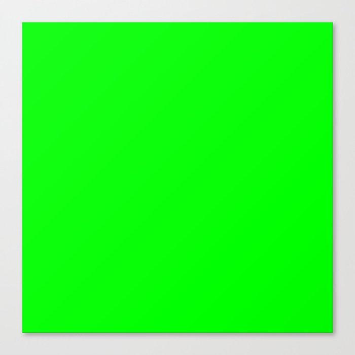 Neon Green Leinwanddruck