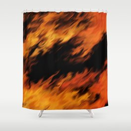 Infernal Agni #fire #burn Shower Curtain