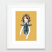 pilot Framed Art Prints featuring Pilot Banner by Freeminds