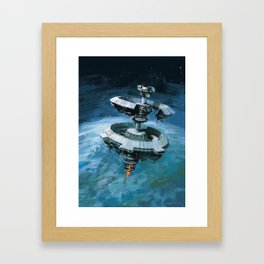 Orbital Beam Platform Framed Art Print