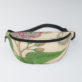 Botanical with Pattern Fanny Pack