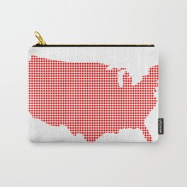 Red Dot Map of The U.S.of A. Carry-All Pouch