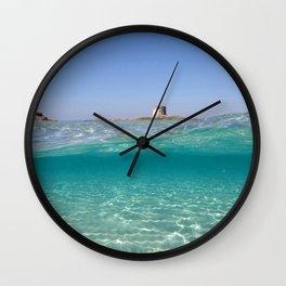 Sardinia, underwater Wall Clock