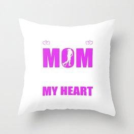 Field Hockey Moms Full Heart Mothers Day T-Shirt Throw Pillow