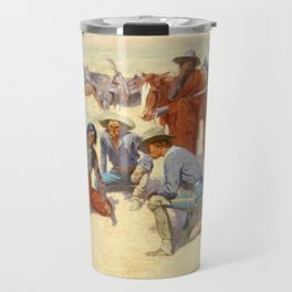"Western Art ""A Map in the Sand"" by Frederic Remington Travel Mug"
