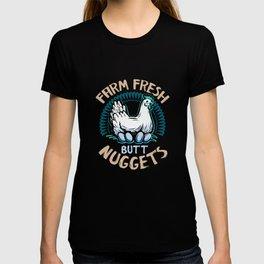Farm Fresh Butt Nuggets Chicken Funny T-shirt