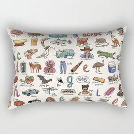 The Australian Alphabet Rectangular Pillow