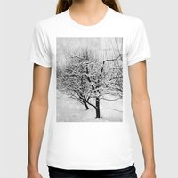 blankets T-shirts featuring Blankets of Snow by Bella Blue Photography