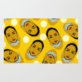 Yellow Ms. Adu Pattern Lover's Rock Rug