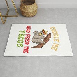 Cuddle Me Feed Me Tacos - Cinco De Mayo Sloth Rug