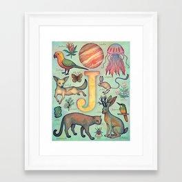 'J' collection Framed Art Print