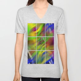 colourful abstraction Unisex V-Neck