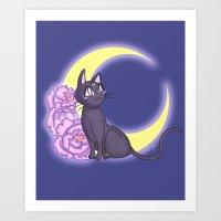 enerjax Art Prints featuring Luna by enerjax