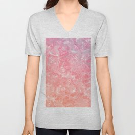 Rose & Gold Mother of Pearl Texture Unisex V-Neck