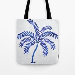 Cobalt Silhouette - Blue Palm Tote Bag