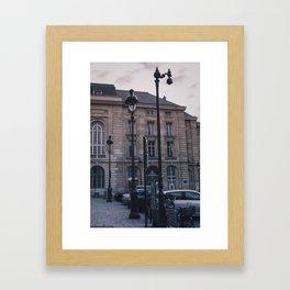 Parisian Lampposts Framed Art Print