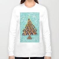 christmas tree Long Sleeve T-shirts featuring Christmas Tree by nabisori33(walking bear)
