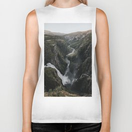 Voringsfossen Waterfall - Landscape and Nature Photography Biker Tank