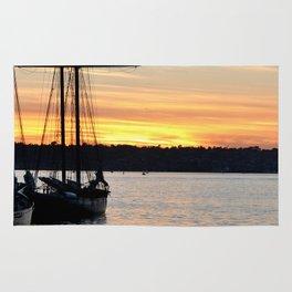 SHIPS AT SUNSET Rug