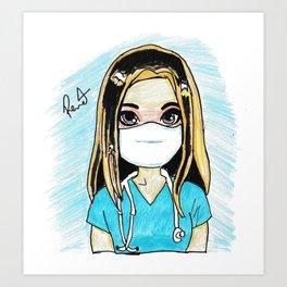 Caca Loira enfermeira Art Print
