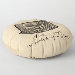 Franz Kafka - Cage in Search of a Bird Floor Pillow