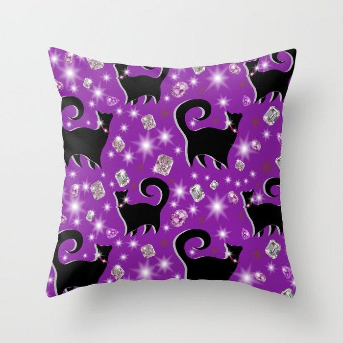 Fabulous Felines take 2 Throw Pillow