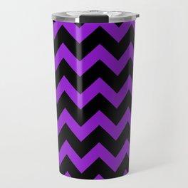 Purple Chevron Travel Mug