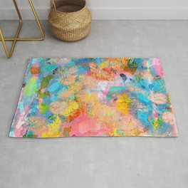 Abstract Pattern in Blush Pink Rug