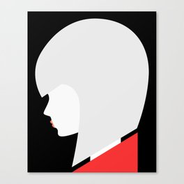 Red-Lipped Diva Canvas Print