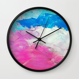 Colorful Acrylic Oil Paint Wall Clock