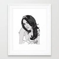aaliyah Framed Art Prints featuring Aaliyah by EA88