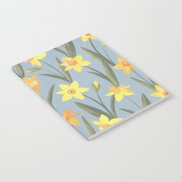 Spring Daffodils Floral Pattern Notebook