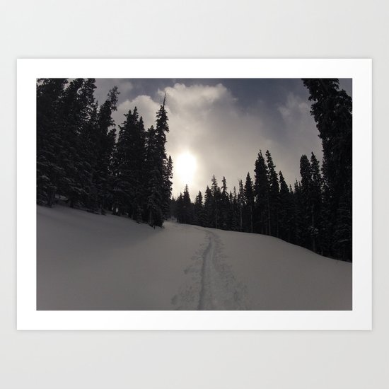 Earning Turns Art Print