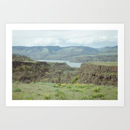 Tom McCall Preserve Looking Out at The Columbia River Gorge Art Print