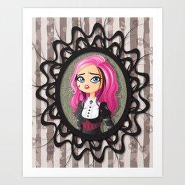 Gothic doll crying Art Print