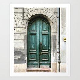 Emerald Door Art Print