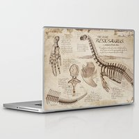"notebook Laptop & iPad Skins featuring Loch Ness Monster: ""The Living Plesiosaurus"" - The lost notebook account by Taylor Morgan"