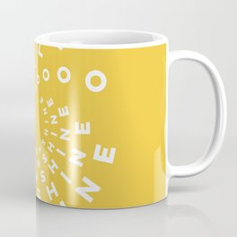 Hello Sunshine #minimal #typography #summervibes Coffee Mug